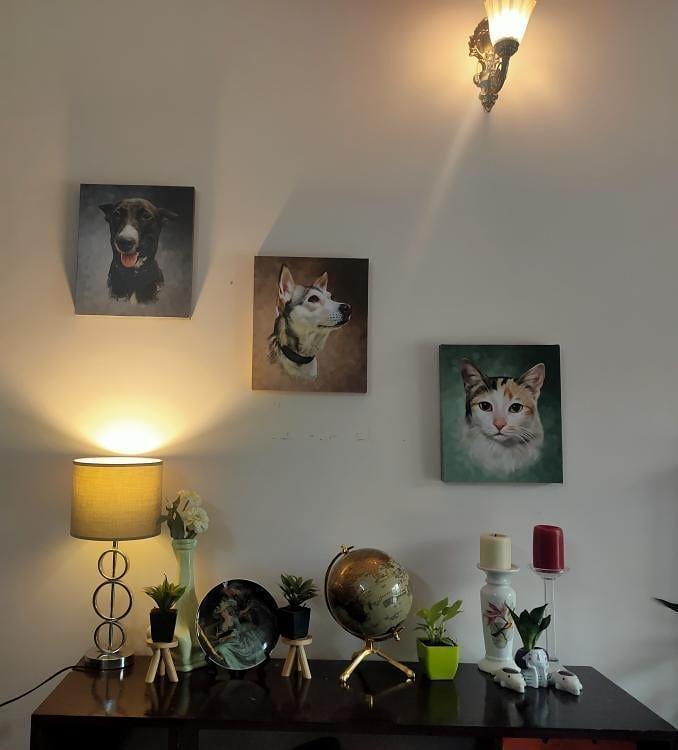 digital pet portraits by pawstro for home decor
